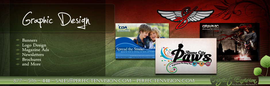 Perfect Envision Graphic Design Banner